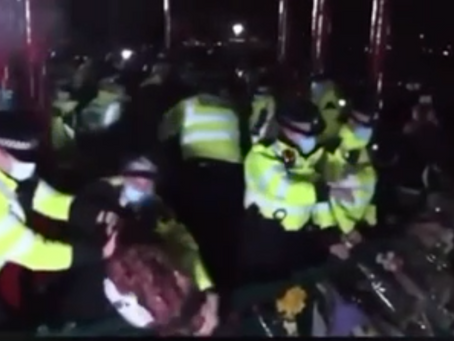 Mourners terrorised by police at vigil for Sarah Everard