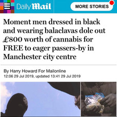 ACTIVISTS GIVE OUT FREE CANNABIS