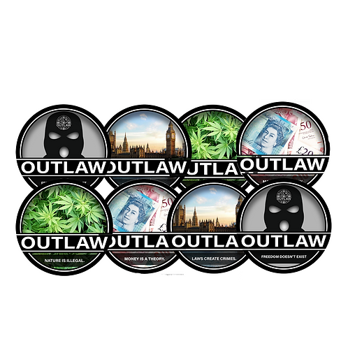 Outlaw Waterproof Sticker Pack {10}