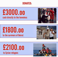 DONATIONS TO THE HOMELESS, BEIRUT VICTIMS AND SYRIAN REFUGEES