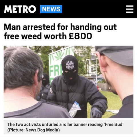 MAN ARRESTED FOR HANDING OUT FREE WEED