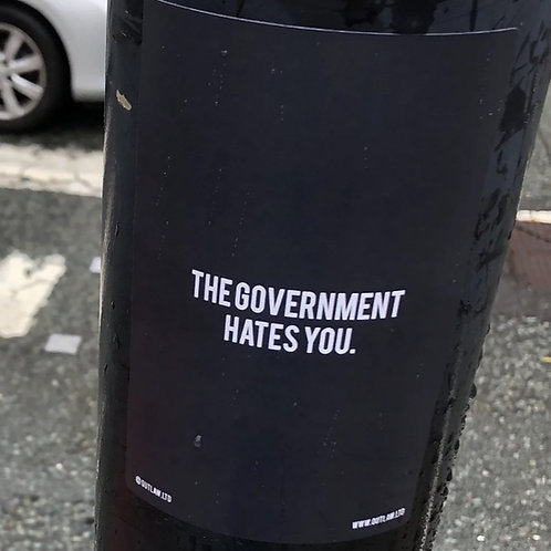 'Gov H8s U' Sticker Slaps