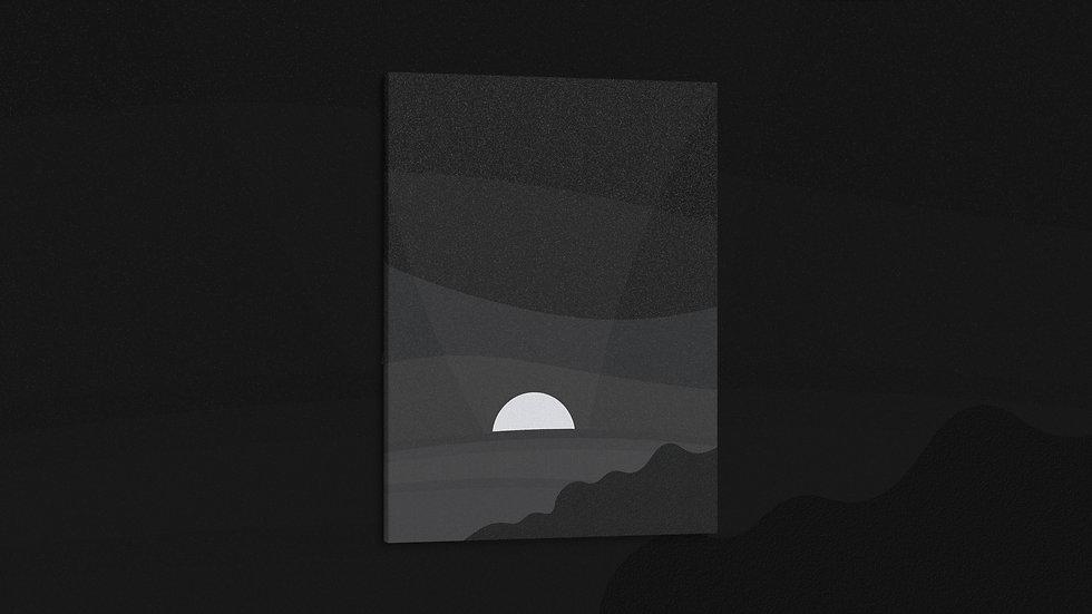 Midnight Cliffs - Canvas
