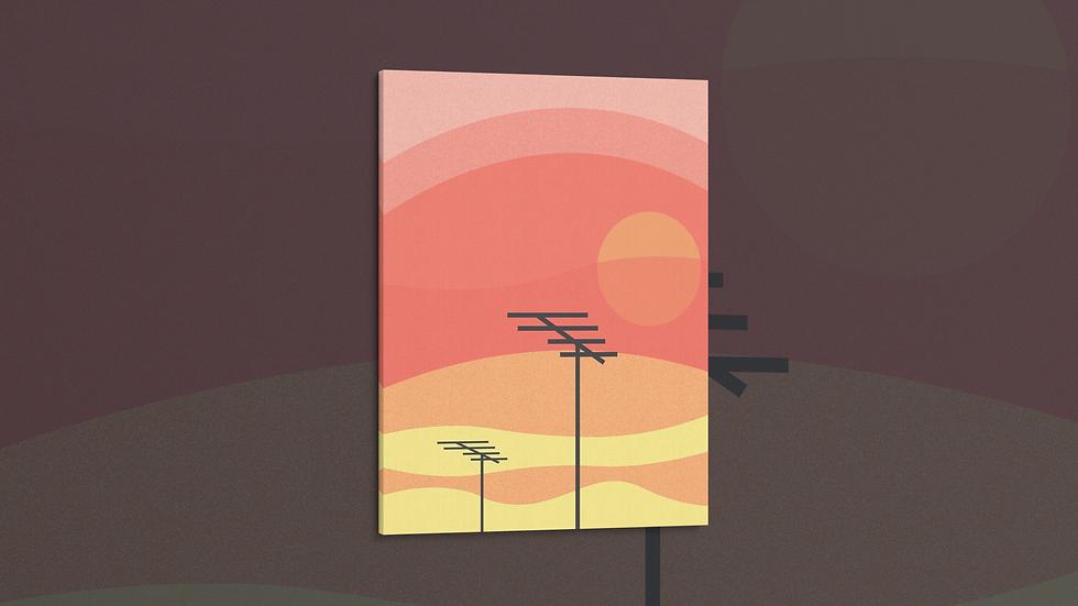 Sunset City - Canvas