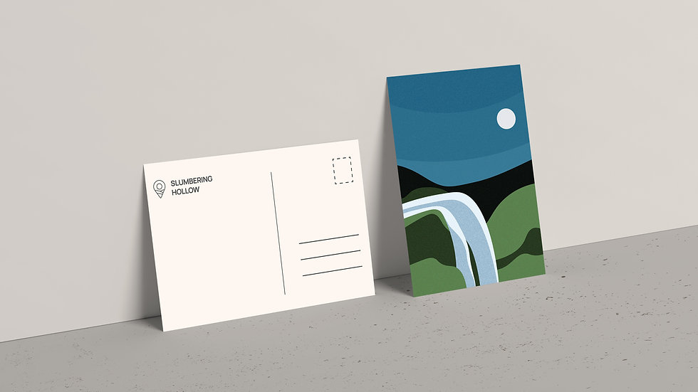 Moonlit Falls - Postcard