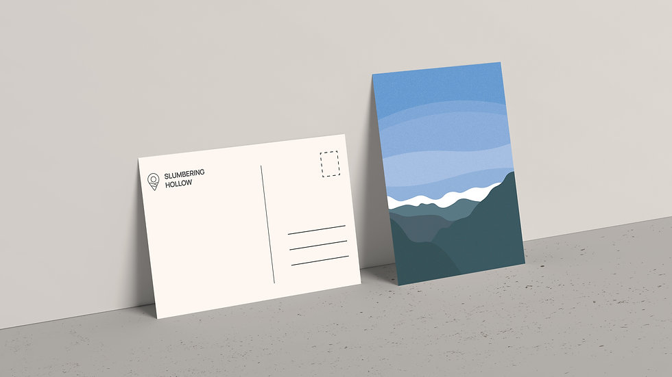 Wintry Mountains - Postcard