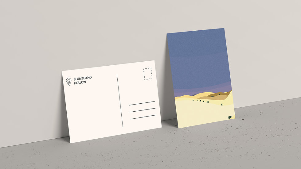 Midnight Desert - Postcard