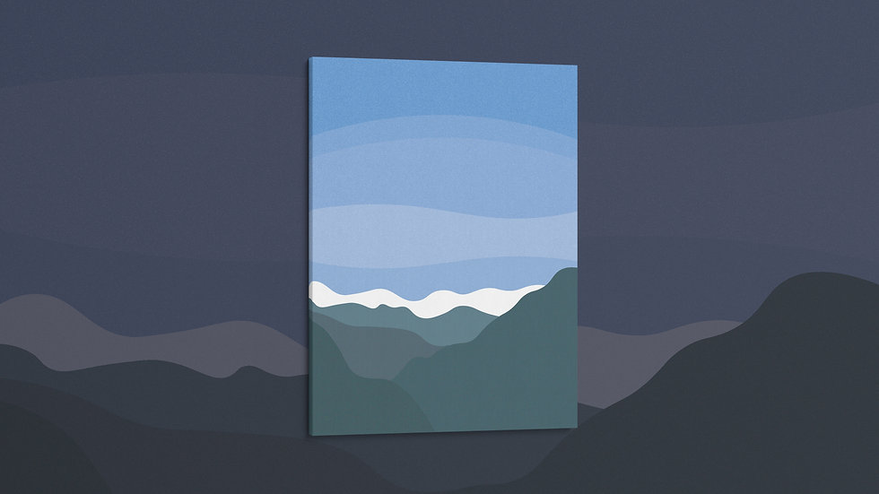 Wintry Mountains - Canvas