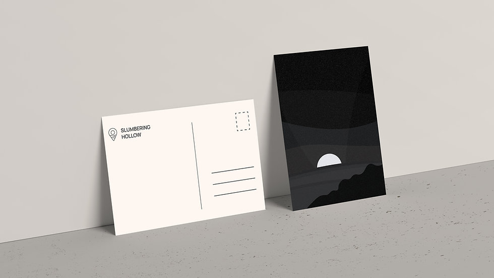 Midnight Cliffs - Postcard