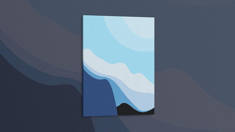 Snowy Cliffs - Canvas