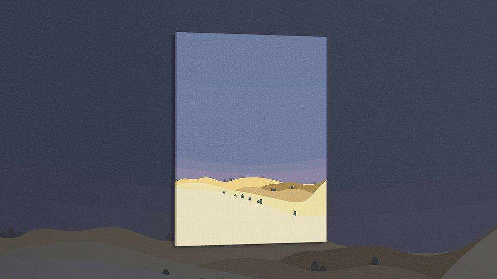 Midnight Desert - Canvas