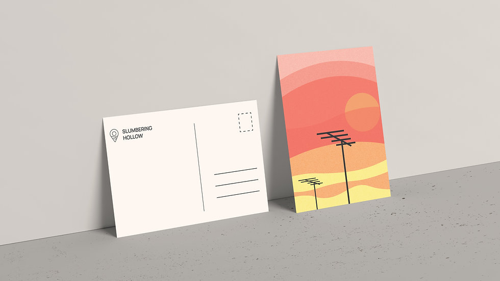 Sunset City - Postcard