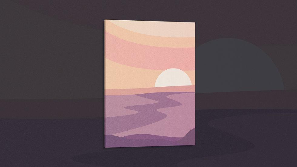 Lavender Lake - Canvas