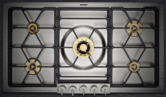 "36"" GAS COOKTOP, TOP CONTROL KNOBS, NATURAL GAS"