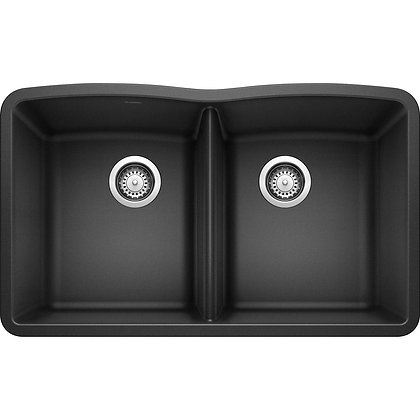 DIAMOND Undermount Granite Composite 32.06 in. 50/50 Double Bowl Kitchen Sink in