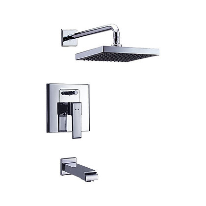 DELTA - IN-WALL TUB AND SHOWER; WITH QUADRATE SHOWER HEAD CERAMIC VALVE SYSTEM
