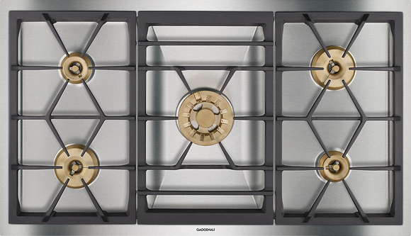 GAS COOKTOP 5 BURNERS, NATURAL GAS, VARIO 400 SERIES