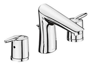 GRAIL Two Handle Widespread Bathroom - Stick Handle Includes Pop-Up - Delex Valv
