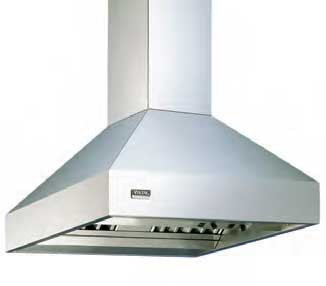 """VIKING - 12"""" H. Duct cover for classic chimney isla nd hood"""