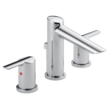 DELTA - WIDESPREAD BATH FAUCET W/METAL POP-UP. INSTALLATION 8''