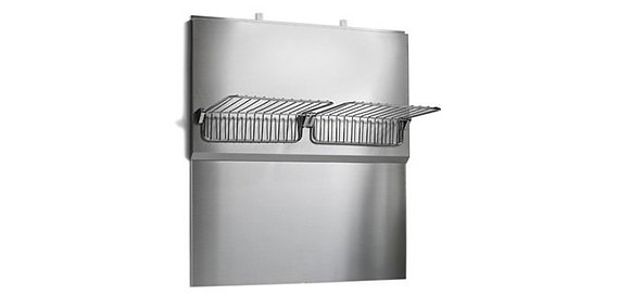 Stainless Back Splash and Warm Racks 36""