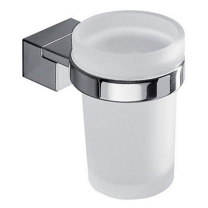INDA - GLASS HOLDER CHROME/SATIN