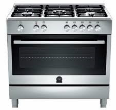 SINGLE-OVEN COOKER STAMPED SS/ WORKTOP WITH 5 BURNERS