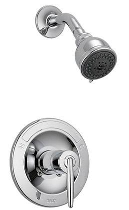 GRAIL Bañera con ducha empotrada en la pared únicamente, manija recta y regadera