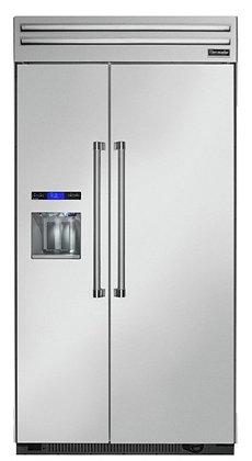 """Refrigerador y Congelador acero 42"""""""