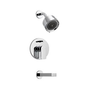 MANDOLIN In-Wall Tub and Shower - Stick Handle; with 3-Setting Shower Head Ceram