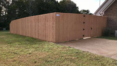8' Stained Privacy Fence in Lexington Tennessee