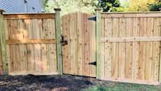 Custom Board on Board Cedar Fence in Jackson Tennessee