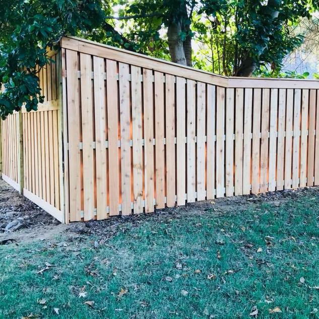 Custom Shadowbox Fence in Jackson Tennessee