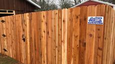 Standard Cedar Fence in Meden Tennessee