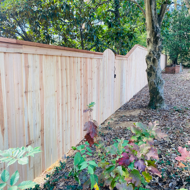 Cedar Cap and Trim Privacy Fence on Postmasters - Jackson Tn