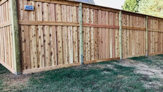 Custom Board on Board Fence with Cap in Jackson Tennessee