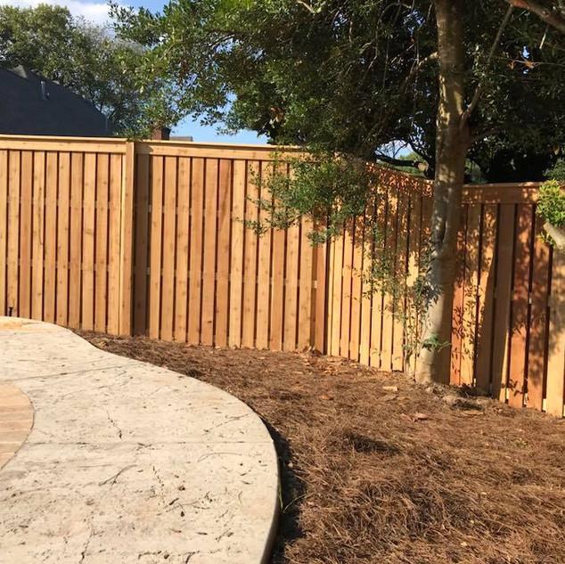 "Custom 1.5"" Shadowbox Fence in Jackson Tennessee"