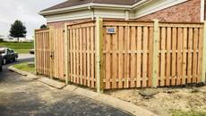 Custom Shadowbox Fence for Dyersburg Tn Church