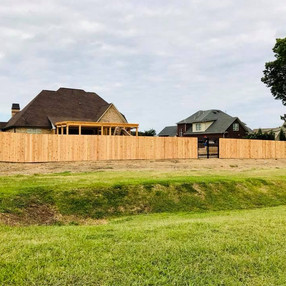 Cedar Privacy with Aluminum Gates in Wyndchase of Jackson, Tennessee