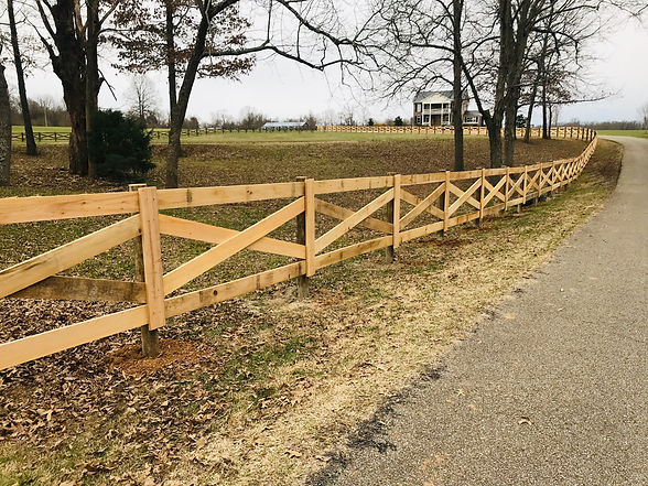 Cypress Crossbuck Wood Fence in Medina Tn
