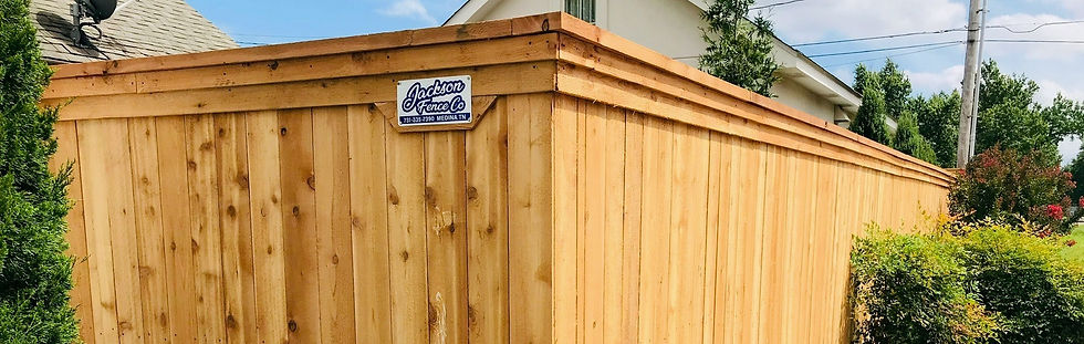 Capped Cedar Fence built on steel postmaster fence posts