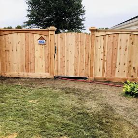 Full Custom Cedar Privacy Fence in Caruthersville, Missouri