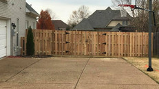 Cedar Shadowbox Fence in Wyndchase of Jackson, Tennessee
