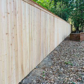 Cedar Cap and Trim Privacy Fence on Postmasters - Jackson, Tn