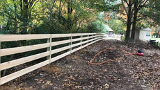 Four Rail Cypress Fence in Jackson, Tennessee