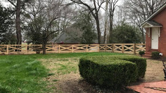 Crossbuck Fence in Alamo, Tennessee