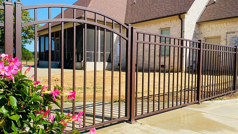 Brown Aluminum Pool Fence