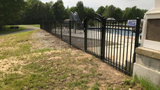 Aluminum Fence with Arched Gate in Hickman Kentucky