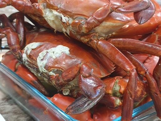 3 Sept 2020 – male crabs for dinner