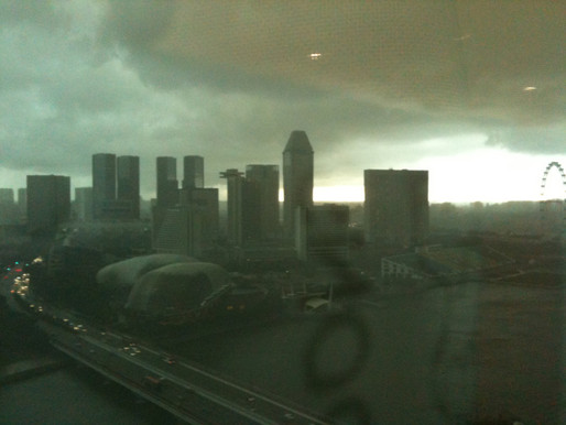 A Stormy view in the Morning at the Office.